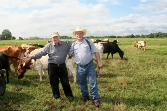 My Dad & me in the western pasture, Barry , TX