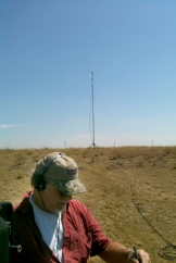 Making distant contacts via ham radio